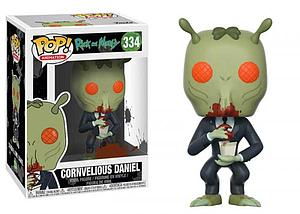 Pop! Animation Rick & Morty Vinyl Figure Cornvelious Daniel #334 (Voice Nathan Fillion)