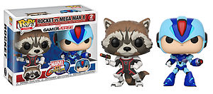 Pop! Games Marvel vs. Capcom Vinyl Figure 2-Pack Rocket Raccoon vs. Mega Man X