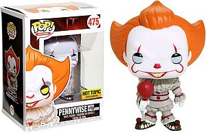 Pop! Movies IT (2017) Vinyl Figure Pennywise with Balloon #475 Hot Topic Exclusive