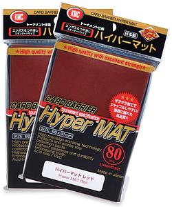 Card Sleeves 80-pack Hyper Mat Standard Size: Red