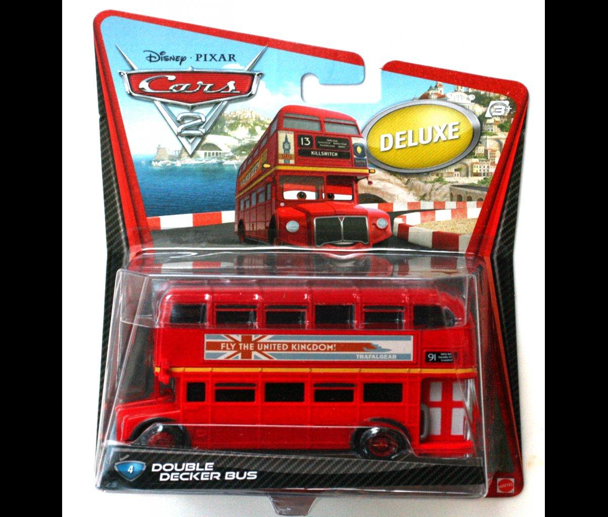 Mattel Disney Cars Die Cast Deluxe Toy Double Decker Bus