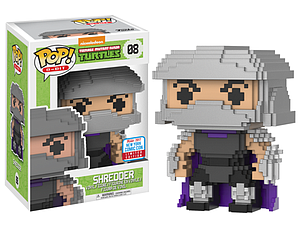 Pop! 8-Bit Teenage Mutant Ninja Turtles Vinyl Figure Shredder #08 2017 New York Comic Con Limited Edition