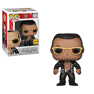 Pop! WWE Vinyl Figure The Rock (Old School) #46 (Chase)
