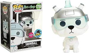 Pop! Animation Rick & Morty Vinyl Figure Snowball (Flocked) #178 L.A. Comic Con Exclusive