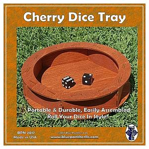 Circular Wooden Dice Tray - Cherry