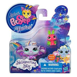 Littlest Pet Shop Fairy Shimmering Sky Set: Morning Haze Fairy & Luna Moth