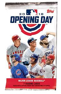 2018 MLB Opening Day Baseball Hobby Pack