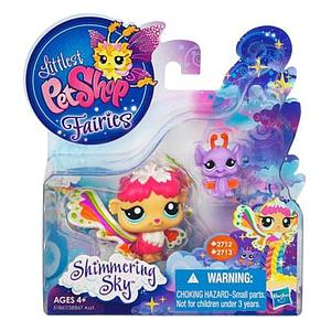 Littlest Pet Shop Fairy Shimmering Sky Set: Rain Prism Fairy & Bat