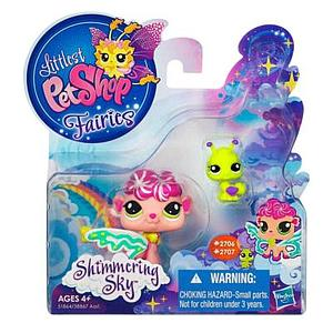 Littlest Pet Shop Fairy Shimmering Sky Set: Sea Breeze Fairy & Ant