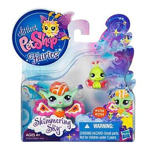 Littlest Pet Shop Fairy Shimmering Sky Set: Sunscape Fairy & Ladybug