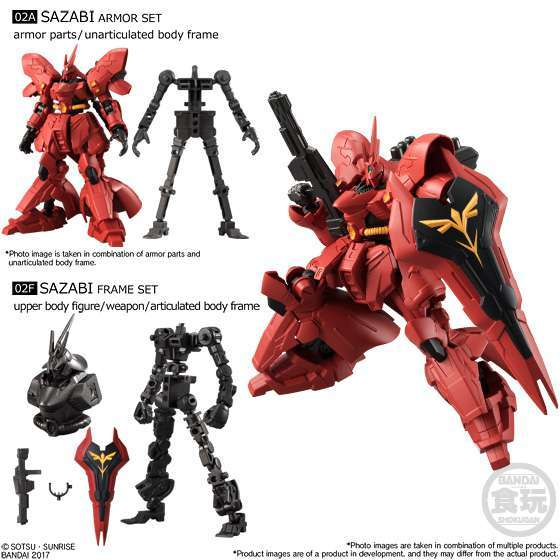 Bandai Shokugan Mobile Suit Gundam G-Frame Vol. 1 Model Kit: Sazabi ...