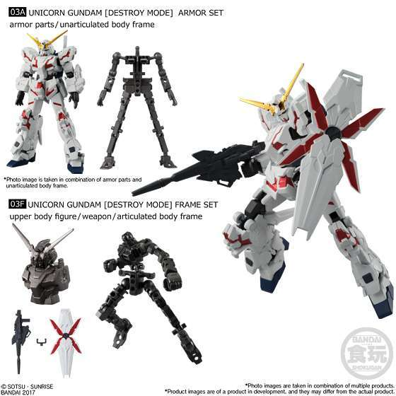 Bandai Shokugan Mobile Suit Gundam G-Frame Vol. 1 Model Kit: Unicorn ...
