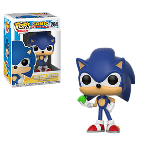 Pop! Games Sonic the Hedgehog Vinyl Figure Sonic with Emerald #284