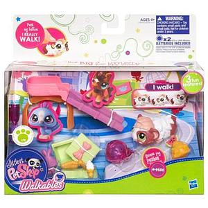 Littlest Pet Shop Walkables Set: Guinea Pig Push the Ball