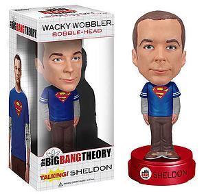 Wacky Wobblers Big Bang Theory Bobbleheads: Talking Sheldon (Superman)