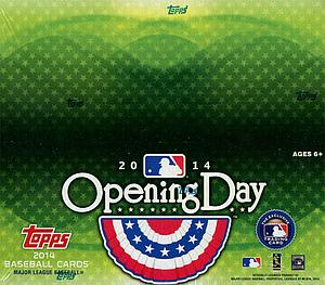 2014 MLB Opening Day Baseball Hobby Box