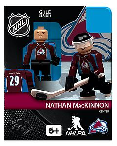 NHL Hockey Minifigures: Nathan MacKinnon (Colorado Avalanche)