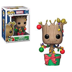 Pop! Marvel Holiday Vinyl Bobble-Head Groot with Lights #399