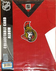 Legend NHL Hockey Card Binder: Ottawa Senators (Jersey Textured)