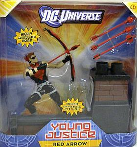"Mattel DC Universe Young Justice Justice League of America 6"" Series Red Arrow"