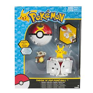 TOMY Pokemon Throw 'N' Pop Poke Ball Dual Playset (Pikachu & Cubone)