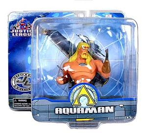 Mattel DC Justice League Justice League Mini Paperweight Bust Series 1 Aquaman