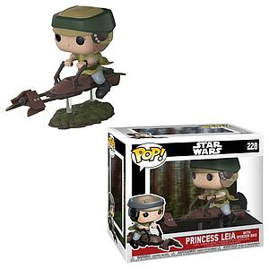 Pop! Star Wars Rides Deluxe Vinyl Bobble-Head Princesss Leia with Speeder Bike #228