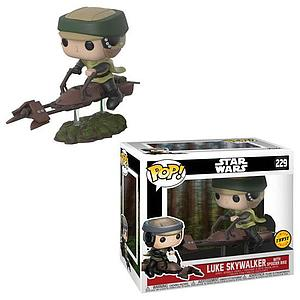 Pop! Star Wars Deluxe Vinyl Bobble-Head Luke Skywalker with Speeder Bike #229 (Chase)