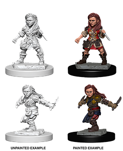 Dungeons & Dragons Roleplaying Game Unpainted Miniatures: Halfling Rogue