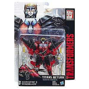 Transformers Generations Titans Return Deluxe Class: Windblade & Scorchfire