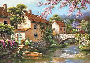 Puzzle: Country Village Canal (4543)