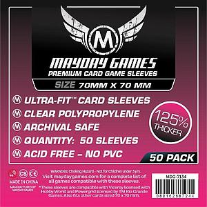 Premium Card Sleeves 50-pack: Small Square