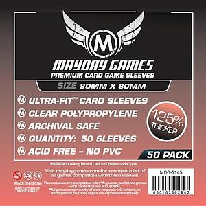 Premium Card Sleeves 50-pack: Medium Square
