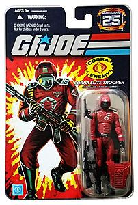 "G.I. Joe 25th Anniversary 3 3/4"": Cobra Elite Trooper Crimson Guard"