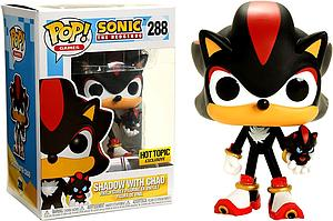 Pop! Games Sonic the Hedgehog Vinyl Figure Shadow with Chao #288 Hot Topic Exclusive