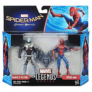 Marvel Spider-Man Homecoming Marvel Legends Series 2-Pack 4 Inch Action Figure Spider-Man and Vulture