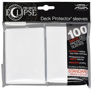Card Sleeves 100-pack Eclipse Pro-Matte Standard Size: White