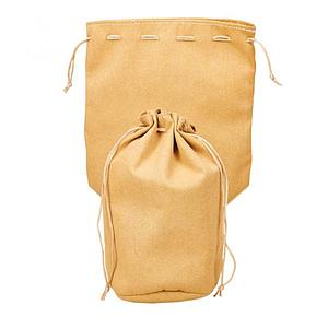 "Dice Bag - Leather Tan Pouch 8""x 7.5"""