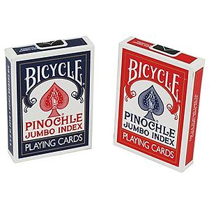 Playing Cards: Pinochle Jumbo (Colors May Vary)