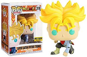 Pop! Animation Dragon Ball Super Vinyl Figure Super Saiyan Future Trunks #318 Hot Topic Exclusive