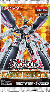 YuGiOh Trading Card Game Duelist Pack: Flames of Destruction Booster Pack