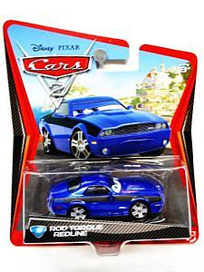 "Mattel Disney Cars Die-Cast 1:55 Scale Toy: Rod ""Torque"" Redline"