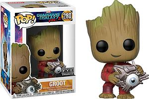 Pop! Marvel Guardians of the Galaxy Vol. 2 Vinyl Bobble-Head Groot (with Cyber Eye) #280 FYE Exclusive