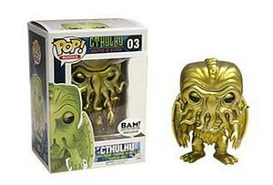 Pop! Books Cthulhu Master of R'lyeh Vinyl Figure Cthulhu (Gold Metallic) #03 BAM! Exclusive
