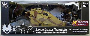 "Mez-Itz The Dark Knight Rises 2"" Scale: Tumbler (With Battle Damaged Batman & Bane)"