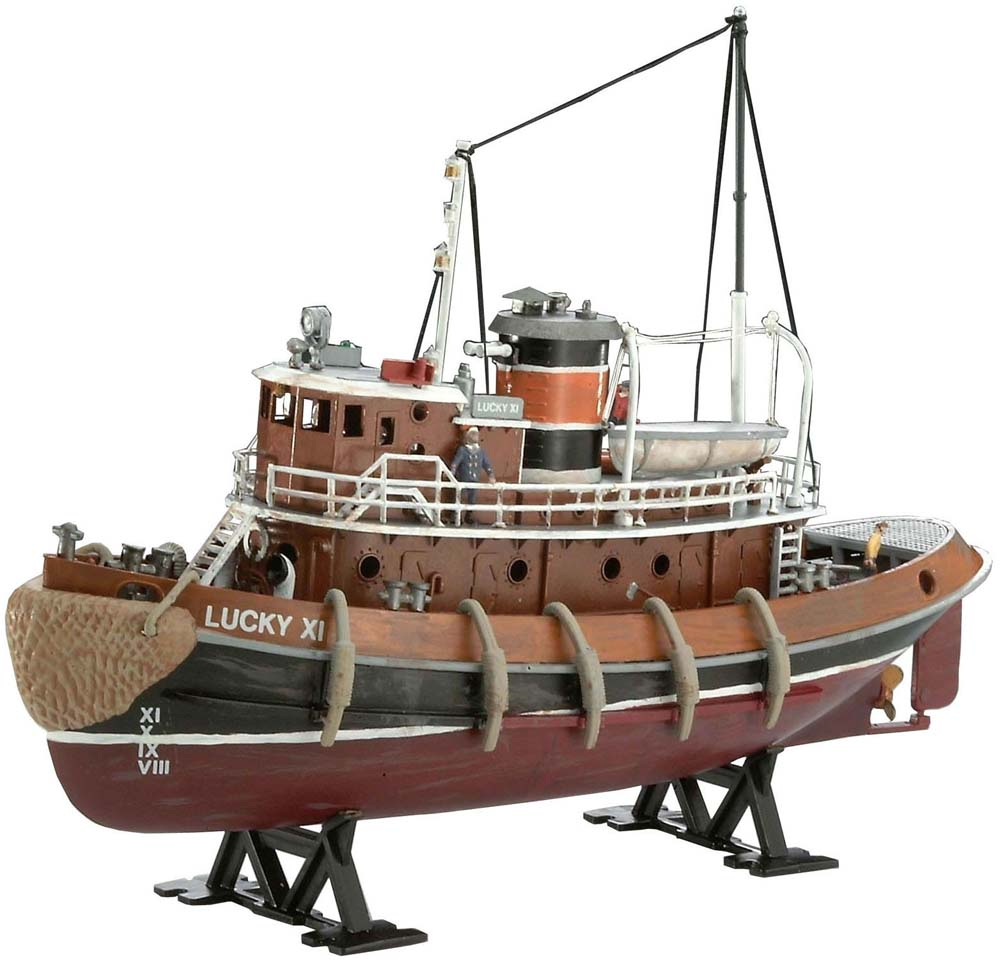 REVELL GERMANY 1:108 Scale Ship Plastic Model Kit Harbour Tug Boat (05207)