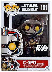 Pop! Star Wars Vinyl Bobble-Head C-3PO (Unfinished) #181 Smuggler's Bounty Exclusive