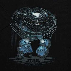 Pop! Tees Star Wars Droids Tee (Black T-Shirt) (M) Smuggler's Bounty Exclusive