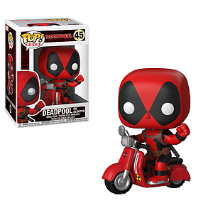 Pop! Rides Marvel Vinyl Bobble-Head Deadpool on Scooter #45