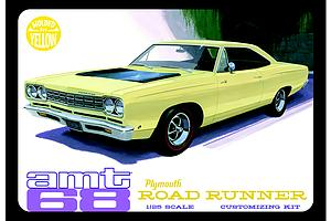 AMT 1:25 Scale Car Plastic Model Kit 1968 Plymouth Roadrunner (Yellow) (AMT849)